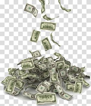 Uang Dolar Amerika Serikat, Uang jatuh, ilustrasi uang kertas dolar AS png