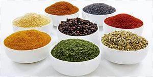 rempah-rempah berbagai macam warna, masakan India. campuran Bumbu Rasa, Bumbu png