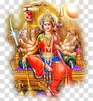 Ilustrasi Dewa Hindu, Devi Mahatmya Durga Puja Navaratri, durga png