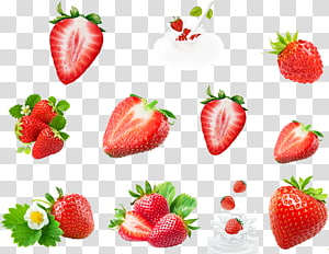 buah stroberi, Strawberry Susu rasa Ikon, buah stroberi png