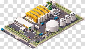 ilustrasi pabrik, Infografis Limbah Pabrik Daur Ulang, pabrik gudang png
