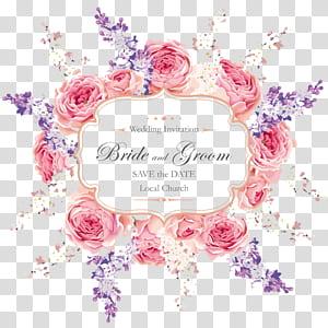 Undangan pernikahan, Kartu Ucapan Pola Pernikahan, template Undangan Pernikahan bunga pink png