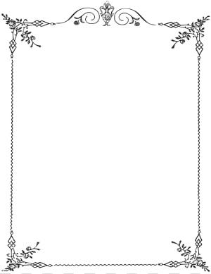 ilustrasi bingkai bunga putih, perbatasan dan bingkai hitam dan putih, perbatasan halaman elegan PNG clipart