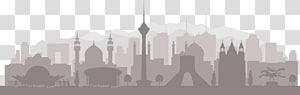cityscape, tehran skyline silhouette, iran PNG clipart