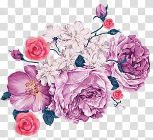 iPhone 4S iPhone 5 iPhone 7 iPhone 8 iPhone 6S, Bunga ungu, bunga merah muda dan putih png