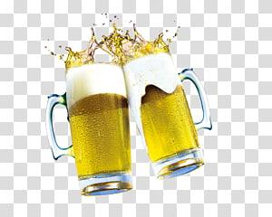 dua gelas bir bening dengan ilustrasi bir, Beer Icon, Bahan tarik bir gratis PNG clipart