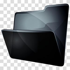 font multimedia sudut, Folder Abu-abu, ilustrasi folder hitam png