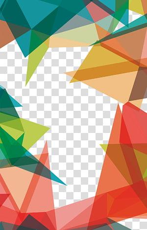 latar belakang warna-warni, Pola Geometri Segitiga, pola Geometris PNG clipart