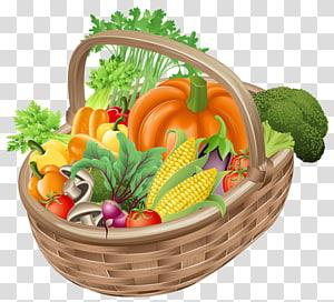 beberapa ilustrasi sayuran, Buah Keranjang Sayuran, Keranjang dengan Sayuran png