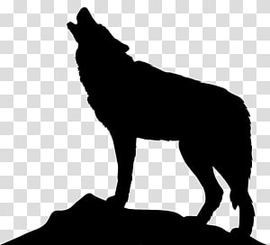 Ikon Serigala Anjing Arktik, Howling Wolf Silhouette PNG clipart