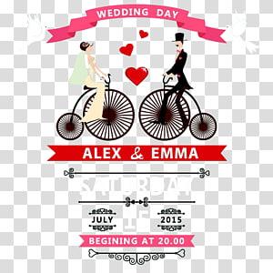 Iklan hari pernikahan Alex & Emma, Undangan pernikahan png