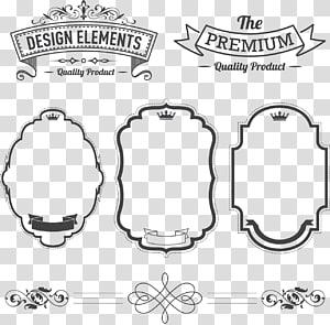 Label Adobe Illustrator, label, berbagai macam bingkai kolase png