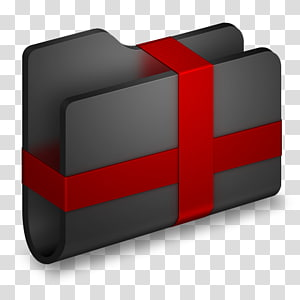 kasing abu-abu dengan tali merah, sudut merek merah, Paket Folder Hitam png