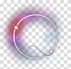 ilustrasi cincin putih, efek Halo Cahaya, Efek halo warna-warni elemen cahaya png