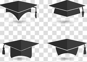 empat papan mortir hitam s, upacara Wisuda Lapangan akademik topi Euclidean, topi kelulusan latar belakang Kelulusan png