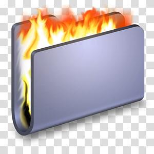ilustrasi 3D folder pembakaran, persegi panjang panas, Bakar Folder Biru png