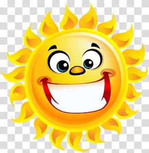 ilustrasi matahari, Senyum Tersenyum Matahari, Senyum Tersenyum PNG clipart