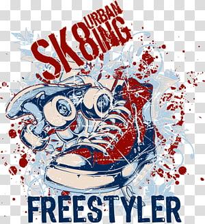 SK8ing Urban freestyler, T-shirt, desain T-shirt png