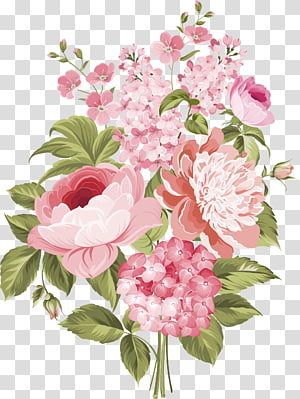 rangkaian bunga, undangan Pernikahan Ilustrasi Menggambar Bunga, Bunga segar berwarna merah muda png