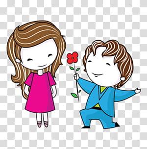 Pasangan Cinta Alkitab Menggambar Pernikahan, Pasangan kartun, gambar kartun anak perempuan dan laki-laki png