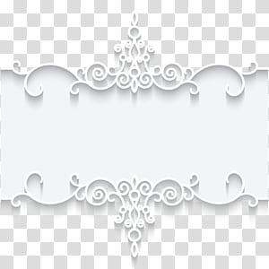 Kertas Renda bingkai Tekstil, Ilustrasi kartu bingkai pola renda putih, bingkai bunga putih dan abu-abu PNG clipart