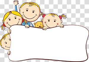 Gambar Kartun, bingkai kartun anak-anak yang lucu, anak-anak PNG clipart