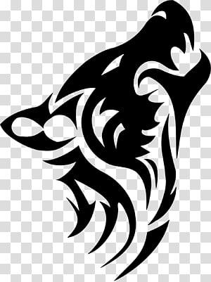 ilustrasi serigala putih, Dog Tattoo Tribe serigala Arktik, serigala Tattoo png