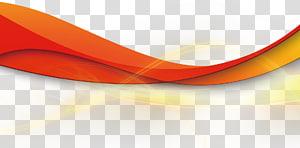 Lampu garis pita geometris, ilustrasi garis bergelombang merah png