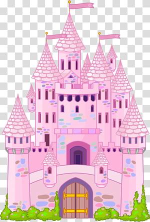 kastil merah muda, Ilustrasi Castle, Castle png