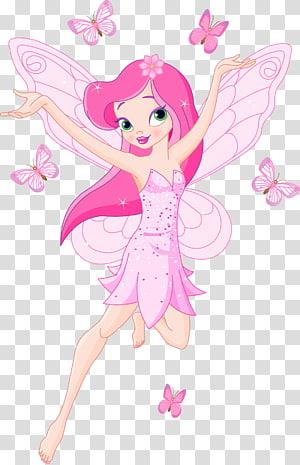 ilustrasi peri merah muda, Kartun peri gigi, Kartun Peri png