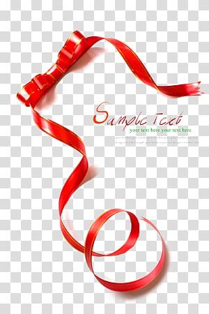 pita merah dan putih dengan hamparan teks, pembungkus Hadiah Pita dan label, Pita Mengambang png
