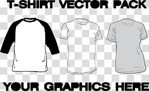 berbagai macam pakaian dengan overlay teks, T-shirt, ilustrasi T-shirt png