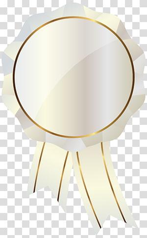 ilustrasi pita penghargaan putih, Produk Desain Huruf Kartun, Segel Putih dengan PNG clipart