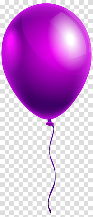Balon, Balon Ungu Tunggal, balon ungu png