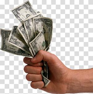 orang yang memegang uang kertas dolar AS, Uang, Uang Di Tangan, Dolar Di Tangan png