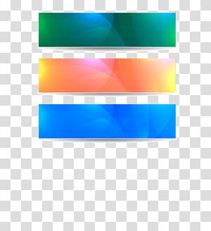 Poster spanduk web, bahan spanduk warna, tiga dekorasi berbagai macam warna png