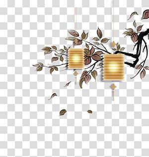 liontin cahaya putih, musim gugur, lentera pertengahan musim gugur PNG clipart