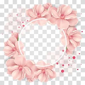 Karangan Bunga Pernikahan Bunga, dekorasi ceri, ilustrasi bunga merah muda png