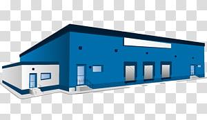 ilustrasi bangunan biru dan putih, Gedung Logistik Gudang, Gudang Biru png