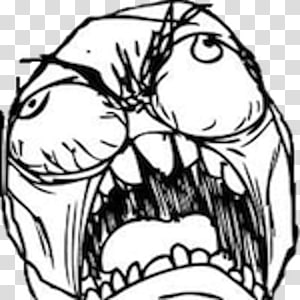 Internet troll Internet meme Komik kemarahan Kemarahan, Angry Troll Face Meme, ilustrasi meme png