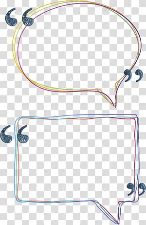 Kotak teks Euclidean, Bahan kotak teks baris berwarna, dua margin percakapan warna-warni png