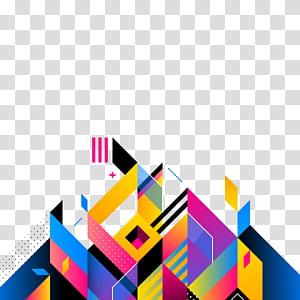 Seni abstrak Ilustrasi, latar belakang abstrak, karya seni biru dan beraneka warna PNG clipart