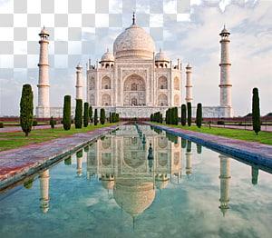 Taj Mahal di Agra, India pada siang hari panorama, Taj Mahal Jaipur Elephanta Caves Segitiga Emas, Taj Mahal, India png
