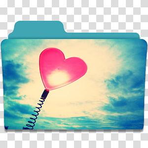 jantung langit cinta kelopak, Folder Jantung, amplop dicetak hati biru dan putih png