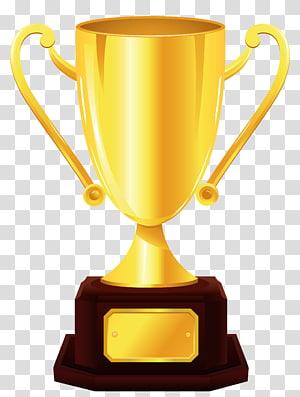 Piala, Piala Emas, ilustrasi piala berwarna emas png