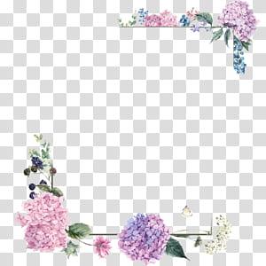 Buket bunga Desain bunga, Batas bunga ungu, ilustrasi bingkai bunga merah muda dan hijau png