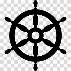 siluet roda kapal layar, Roda Kapal Juru Buru Rudder, Laut, Ikon Roda Kapal png
