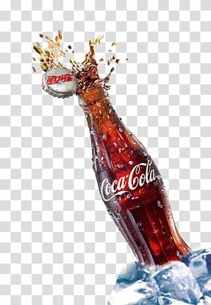 Ilustrasi botol Coca-Cola, Minuman ringan Coca-Cola Minuman berkarbonasi, Minuman berkarbonasi Creative Coca-Cola PNG clipart