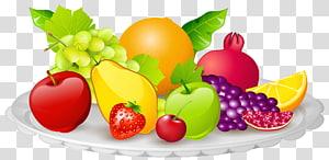 Masakan vegetarian Diet sup kubis, Sayur Buah, Piring dengan Buah, ilustrasi berbagai buah png