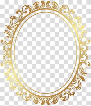 bingkai, Bingkai Deco Perbatasan Oval, bingkai hiasan emas oval PNG clipart